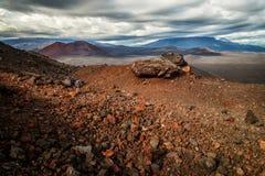 Grande eruzione di Tolbachik delle crepe, Kamchatka immagine stock