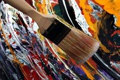 Grande escova de pintura Fotografia de Stock