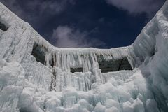 Grande escultura de gelo imagens de stock