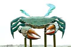 Grande escultura do caranguejo do metal Fotografia de Stock Royalty Free