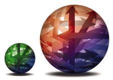 Grande esfera da esfera pequena ilustração stock