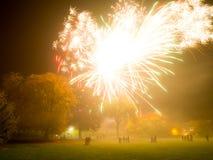 Grande esplosione dei fuochi d'artificio Fotografia Stock Libera da Diritti