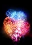 Grande esposizione professionale dei fuochi d'artificio Fotografie Stock Libere da Diritti