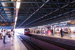 Grande estación de metro de Campo, Lisboa (Lisboa), Portugal Imagen de archivo libre de regalías