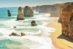 Grande estrada em Victoria, Austrália do oceano Fotografia de Stock