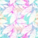 Grande et de petite taille composition décorative légère en plumes, papier peint Photo stock