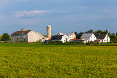 Grande exploração agrícola do Condado de Lancaster Amish Imagem de Stock