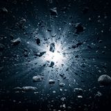Grande explosion de coup dans l'espace illustration libre de droits