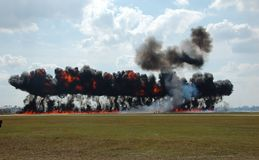 Grande explosion industrielle photos libres de droits