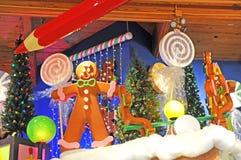 Grande exposição interna do Natal ou do feriado Imagens de Stock