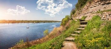 Grande extensão do rio de Velikaya Foto de Stock