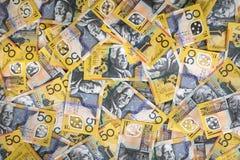 Grande extra del fondo australiano dei soldi Fotografia Stock