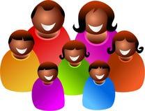 Grande família Imagens de Stock