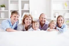 Grande famiglia Immagine Stock Libera da Diritti