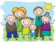 Grande famiglia Fotografia Stock Libera da Diritti