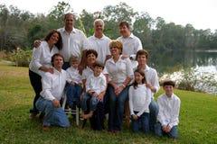 Grande famiglia fotografie stock