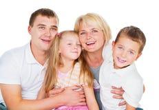 Grande famiglia felice Fotografia Stock Libera da Diritti