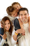 Grande, famiglia felice Fotografie Stock