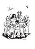 GRANDE famiglia felice (2008) Fotografia Stock