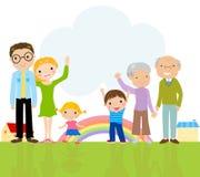 Grande famiglia sveglia Fotografia Stock Libera da Diritti