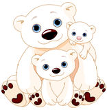 Grande famille d'ours blanc illustration stock