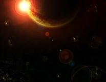 Grande fantasia di eclipse solare Immagini Stock