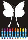 Grande farfalla per coloritura del banco Fotografia Stock Libera da Diritti