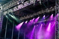 Grande fase di concerto Immagini Stock