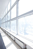 Grande fenêtre blanche Images stock