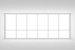 Grande fenêtre dans la pièce blanche vide de local commercial illustration de vecteur