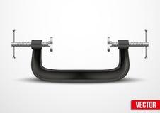 Grande ferramenta da compressão da braçadeira. Vetor conceptual ilustração stock