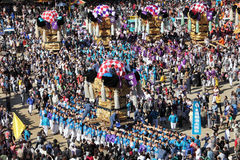Grande festiva dourado do santuário Fotografia de Stock