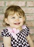 grande fille adorable peu sourire Photos stock