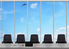 Grande finestra in ufficio Fotografie Stock