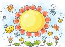 Grande fiore illustrazione di stock