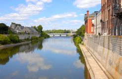 Grande fiume Cambridge Galt Fotografia Stock