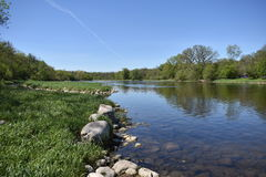 Grande fiume Parigi Ontario fotografia stock