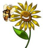 Grande fleur illustration stock
