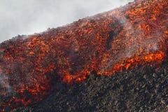grande flusso di lava del dettaglio Fotografie Stock Libere da Diritti