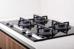 Grande fogão de gás moderno Foto de Stock Royalty Free