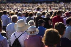 Grande folla della gente Immagini Stock
