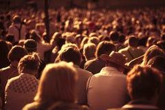 Grande folla della gente Fotografia Stock Libera da Diritti