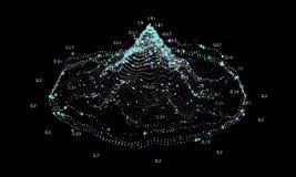 Grande fondo astratto di dati Complessità futuristica di progettazione di infographics Analisi dei dati visiva di informazioni di royalty illustrazione gratis