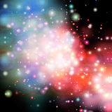 Grande fondo cosmico dell'acquerello royalty illustrazione gratis