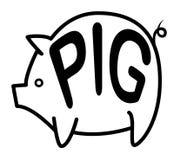 Grande fondo del maiale illustrazione di stock