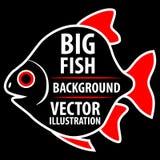 Grande fondo del pesce illustrazione di stock