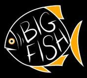 Grande fondo del pesce per testo illustrazione di stock