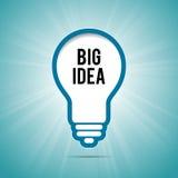 Grande fondo della lampadina di idea Immagine Stock