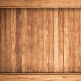 Grande fondo di legno di struttura della parete della plancia di Brown Fotografia Stock