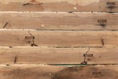 Grande fondo di legno di struttura della parete della plancia di Brown per il web Fotografie Stock Libere da Diritti